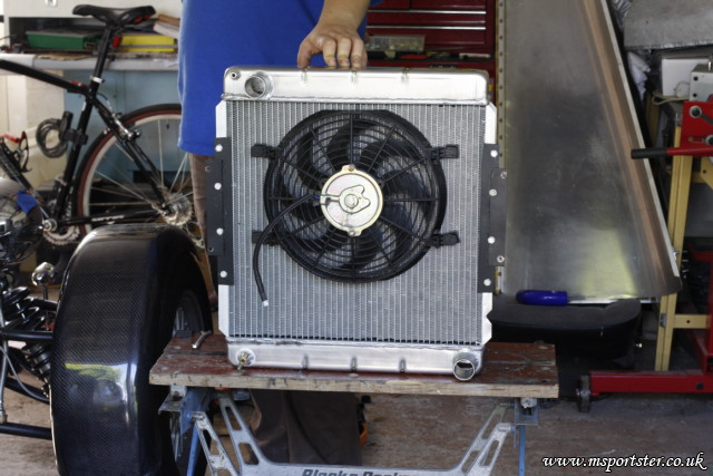 What seemed like a big fan is actually quite small!